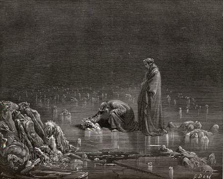 Gustave Dore Illustration on Inferno 32