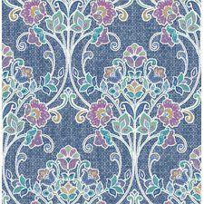 """Papier peint floral et botanique en relief 33' x 20,5"""" Willow Nouveau"""
