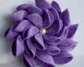 Lilac Felt Flower