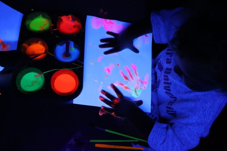 glow in the dark painting session glow in the dark pinterest. Black Bedroom Furniture Sets. Home Design Ideas