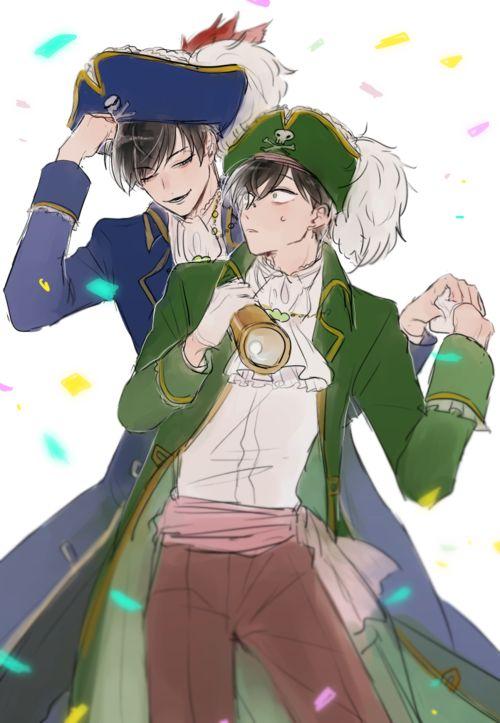 Imagen de osomatsu-san, choromatsu anime, and karamatsu