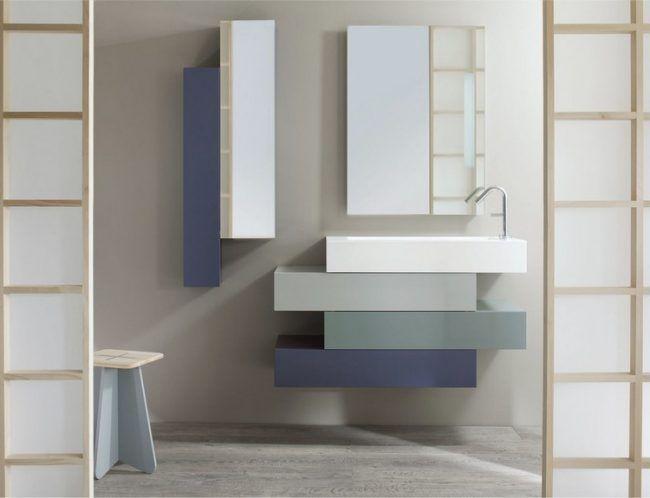 Badezimmer Waschbecken Unterschrank Schubladen Grautoene Sanijura Amazing Design