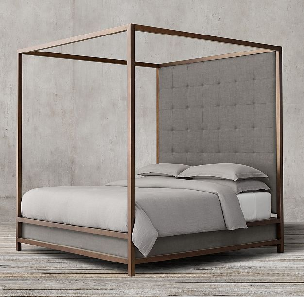 Montrose Tufted High Panel Four-Poster Bed