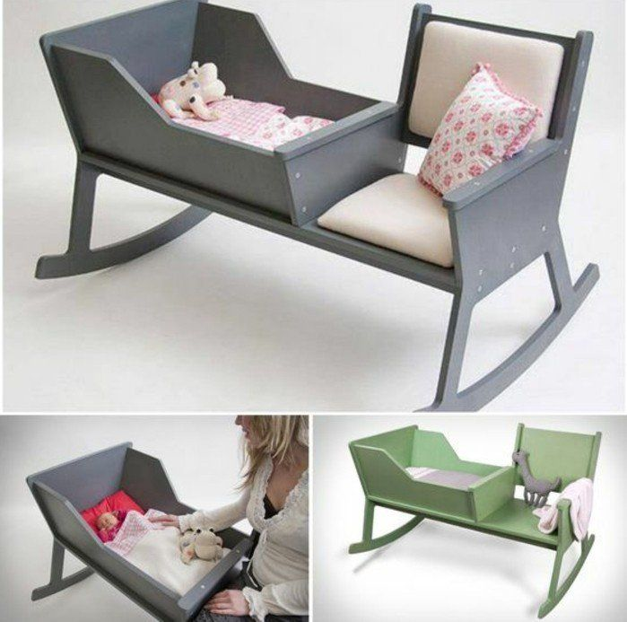 berceau bébé en bois gris, le meilleur design pour un berceau bebe pas cher