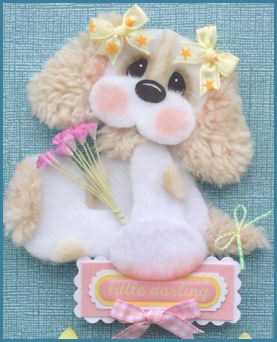 LITTLE-DARLING-Puppy-Tear-Bear-4-Premade-Scrapbook-Pages-Paper-Piecing-LAPULENTA