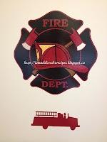 Fire truck / Fire Dept wall vinyl  Little Boy Bedroom