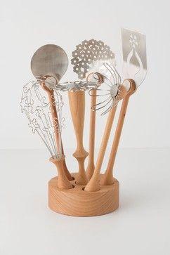 Wildflower Utensil Set - contemporary - kitchen tools - Anthropologie