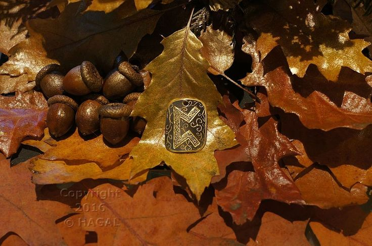 Perthro  Rune Amulet Pendant Handmade Brass Wicca Pagan Viking Druid