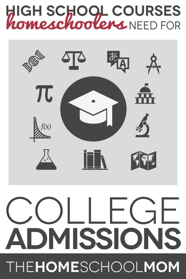 TheHomeSchoolMom Blog: College Admission Requirements for Homeschoolers