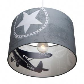 Little Dutch - Lampen / Silhouette / Vliegtuig Grijs