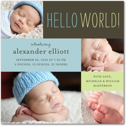 Oh my goooooodness - yes! Since my future sis in law is the most talented newborn photographer I know, I LOVE this announcement!