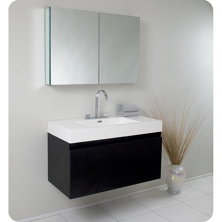 Media Viewer | AllModernFresca Mezzo, Depot Canada, Mezzo Black, Medicine Cabinets, Modern Bathroom Vanities, Home Depot, Mezzo Modern, Black Modern, Modern Bathrooms