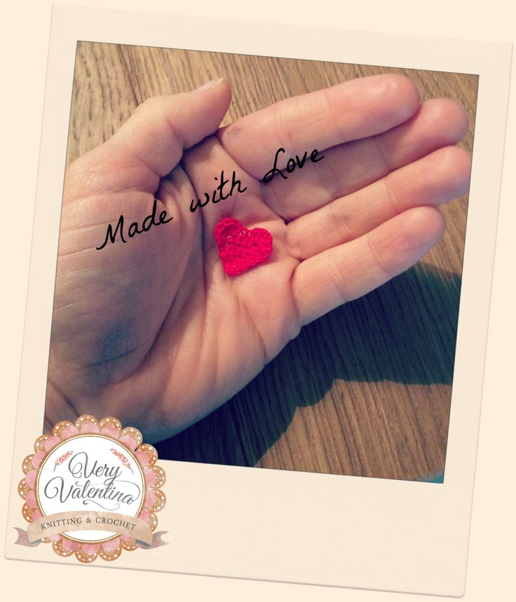 Crochet Uncinetto Mini heart applique. Uncinetto cuore. Handmade Custom. Fatto a mano