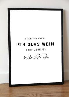 Druck print quotkuchequot a4 for Poster küche