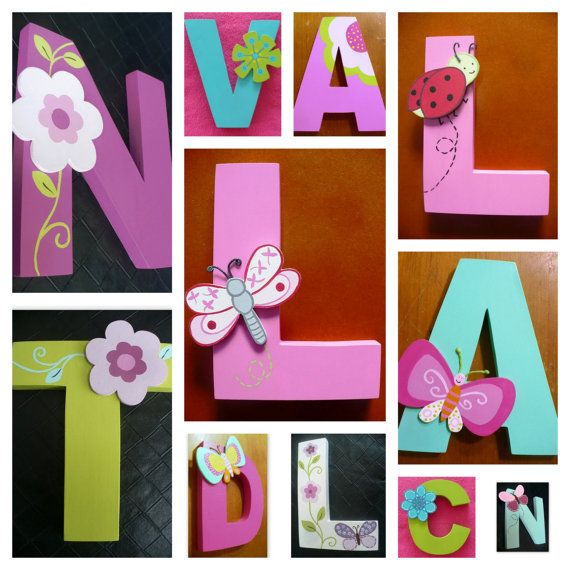 Girls Wood  Letters Custom Boutique Baby Girls by Onlyforkids, $14.00