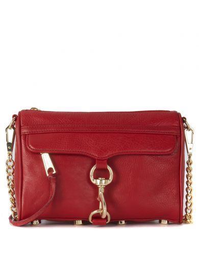 REBECCA MINKOFF Borsa A Tracolla Rebecca Minkoff Mini M.a.c. In Pelle Rossa. #rebeccaminkoff #bags # #