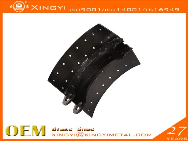 7070-220  We are manufacture of brake shoes, we covers Japanese, European, Korean,US trucks. •web welding wethod:5、7Segments,Full bead•High precision technics:Radius precision Effective throat>3.74•Heat treament:HRS:35-45 hardness•Surface treatment:0.08-0.15mmthick•180 to 360 hours salt spray test,fatigue test, tensile test, metallographic analysis, element test, chromatic aberration test•Reline able 5-6times reuse guranteed•Original place: CHINA www.chinametalmanufacturer.com