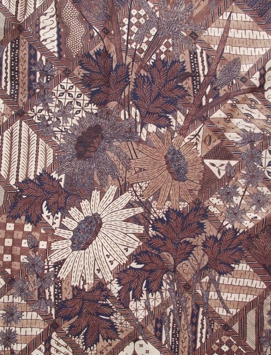 Old Batik Dutch - sogan caramel - detail 2of2