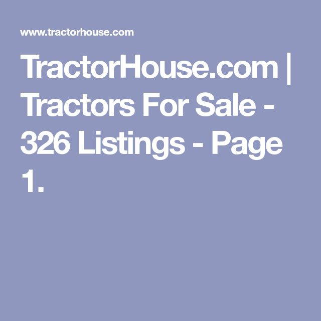 TractorHouse.com |  Tractors For Sale - 326 Listings - Page 1.