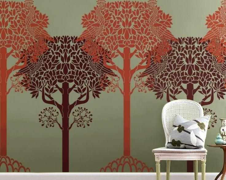Stencil Art For Walls 164 best stencils images on pinterest | stencil designs, stencils