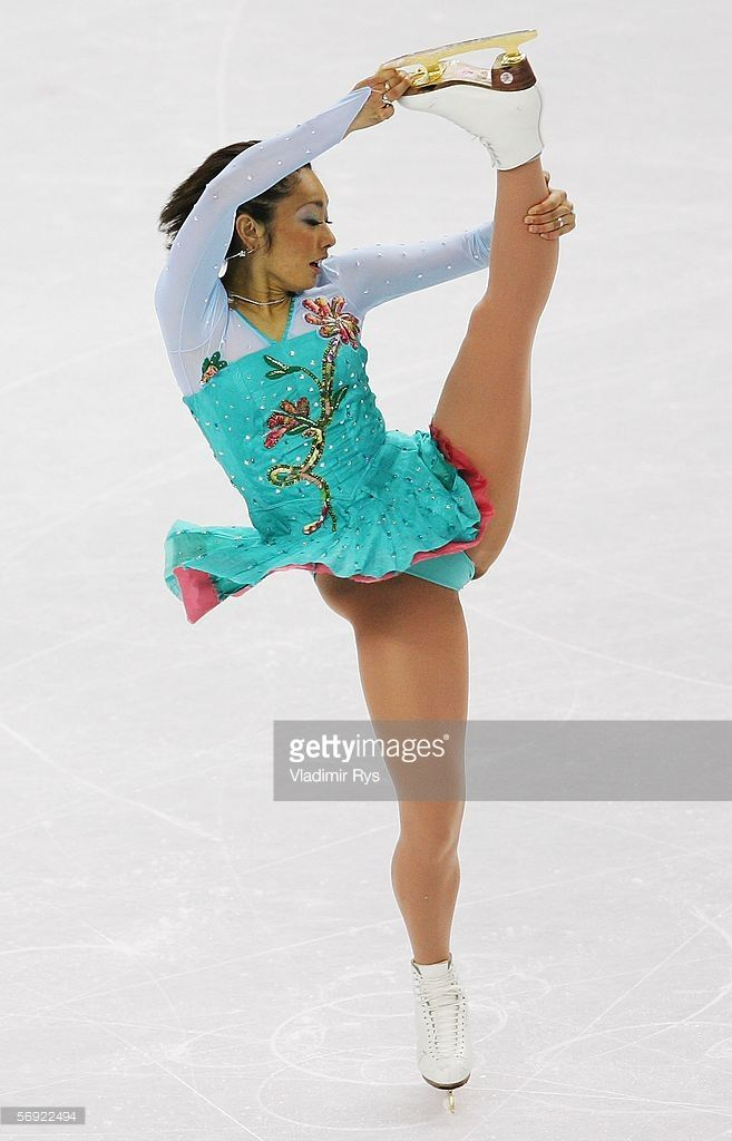 Miki Ando of Japan performs during the women's Free Skating program of figure skating during Day 13 of the Turin 2006 Winter Olympic Games on February 23, 2006 at Palavela in Turin, Italy.