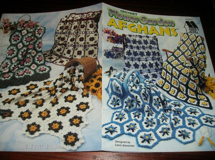 🌻 🌻 Afegãos Crochê Padrões Flores de Jardim Elegantes Pontos -  / 🌻 🌻 Afghans Crocheted Patterns Flowers Garden Classy Stitches -