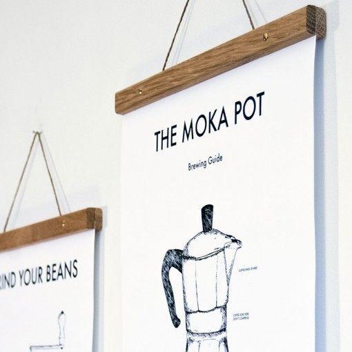 Moka Pot Kitchen Art Poster by OurBrokenHouse on Owl Streets