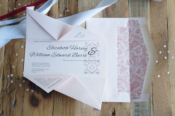 Wedding invitations | Origami invitations | Custom invitations | Unique invitations | Wedding stationery | Elegant invites | Aijou fold. Custom wedding invitations by A Tactile Perception
