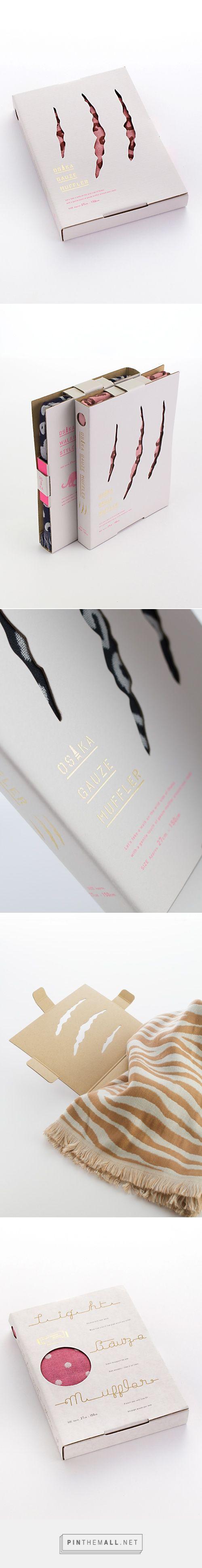 OSAKA GAUZE MUFFLER | Grand Deluxe【愛媛松山/デザイン】- #scarf #packaging #design