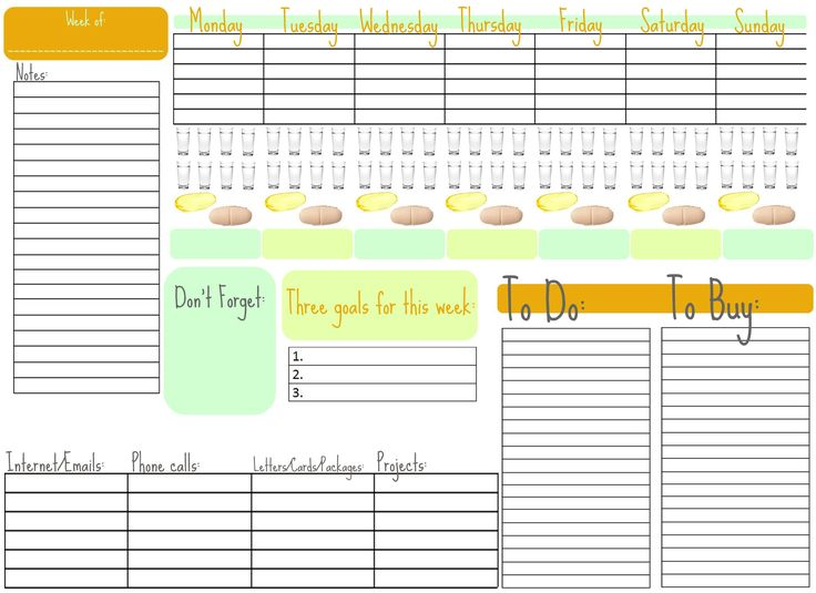 weekly calendarDaily Planners Ideas, Daily Organic, Organic Ideas, Weeks To Do Lists Printables, Planners Pages, Weeks Organic, Weeks Plans, Weeks Planners, Calendar