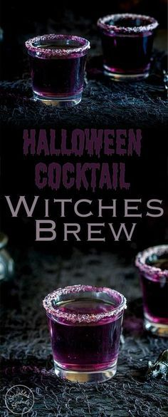 This 'Witches Brew'- halloween cocktail is so stunning. Based on a Purpl…