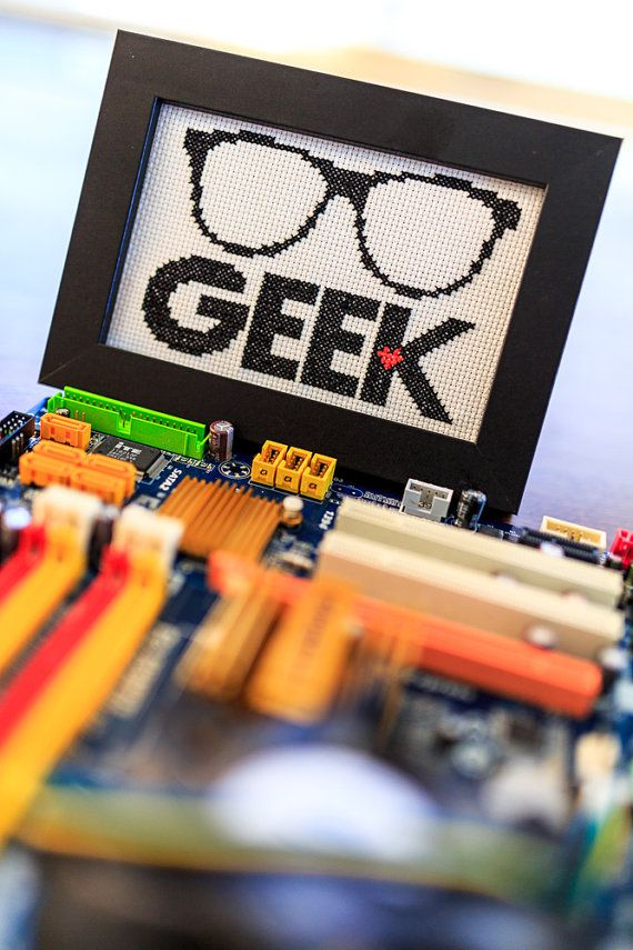 Geek Glasses // Modern Cross Stitch Digital Pattern PDF // Geekery and Nerd Pride // Simple Fun Cross Stitch