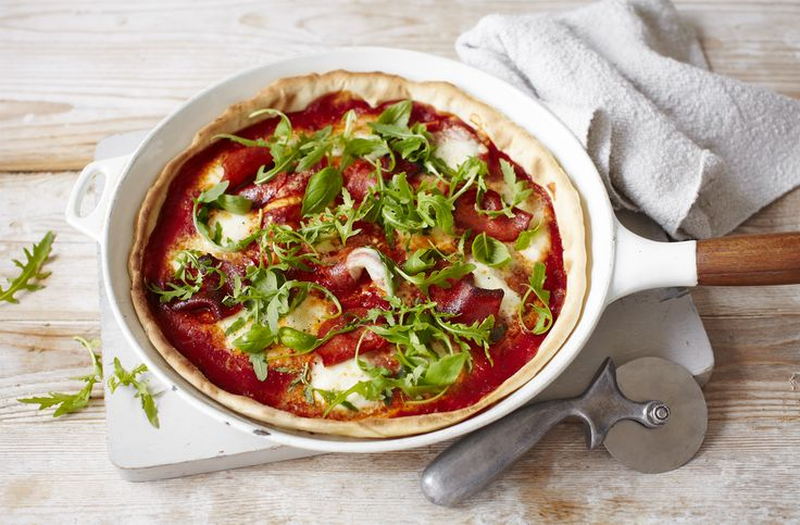 Nutty Parmesan, fresh rocket, salty pepperoni and ready in under 30 minutes — rest in pizza Italian takeaway menus.