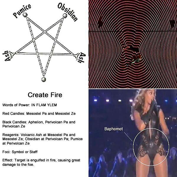 Beyonce lobes Baphomet