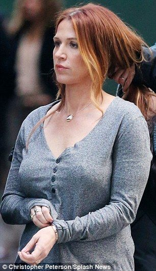 Poppy Montgomery looks tough while filming in New York ...
