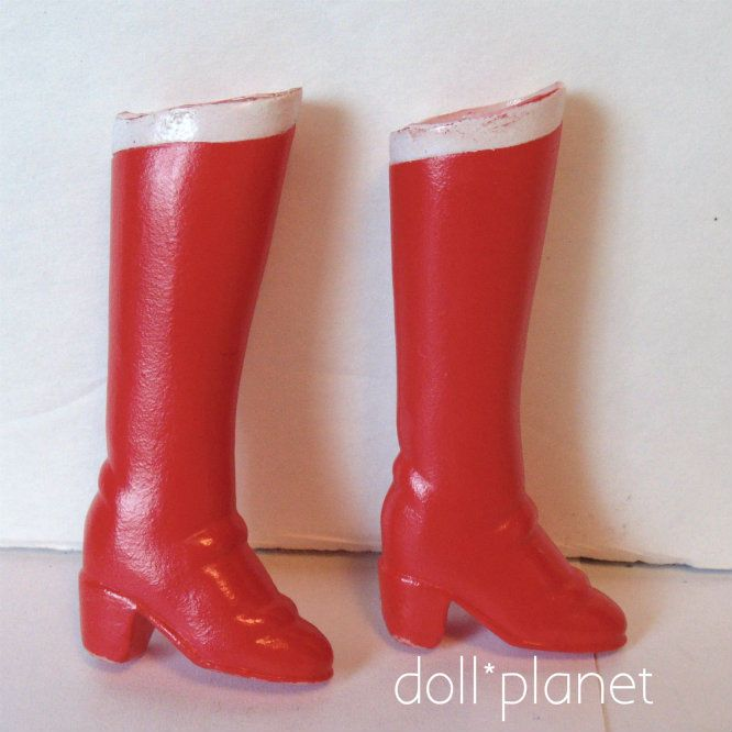 BARBIE DOLL Red Boots with white stripe SAILOR MOON Wonder Woman  | eBay