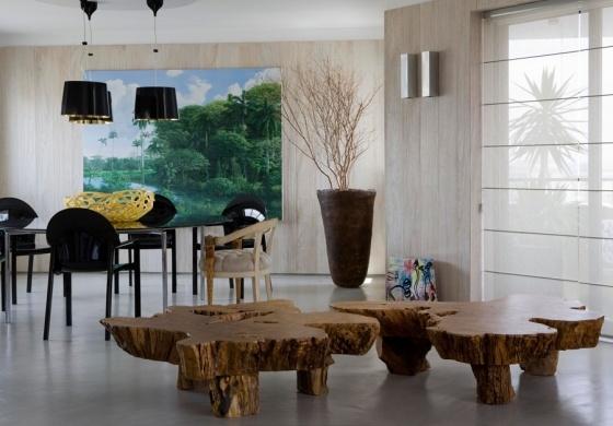 Mesas de tora: Trees Trunks, Urban Forests, Tables Legs, Interiors Design, Fábio Galeazzo, Home Decor, Memorial Tables, Forests Interiors, Wooden Tables