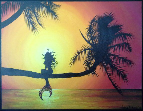 Mermaid+Painting+by+tori5585+on+Etsy,+$100.00