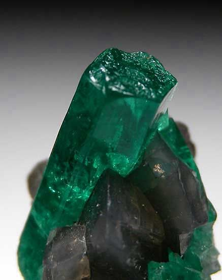Emerald with Calcite  Muzo Mine, Boyaca Dept., Colombia