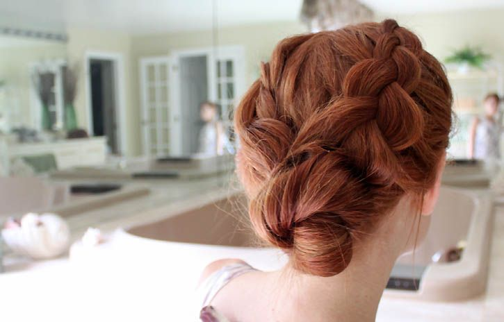 braided bun tutorial |Gina Michele