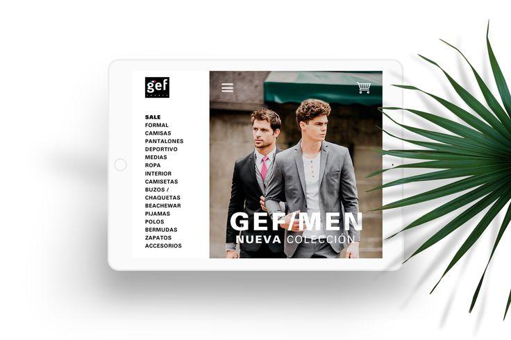 Web concept para la línea formal de la marca Gef: Gef Men