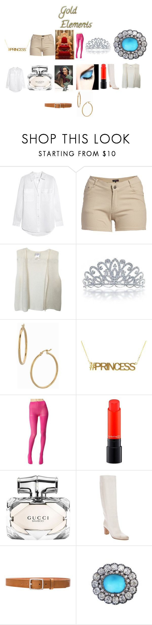 """Lazy, Chill day 15"" by chrisone ❤ liked on Polyvore featuring Equipment, 1826 JEANS, Chanel, Bling Jewelry, Bony Levy, Betsey Johnson, MAC Cosmetics, Gucci, Maison Margiela and rag & bone"