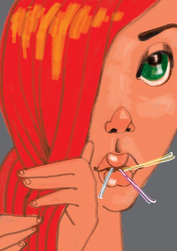 illustration, girl