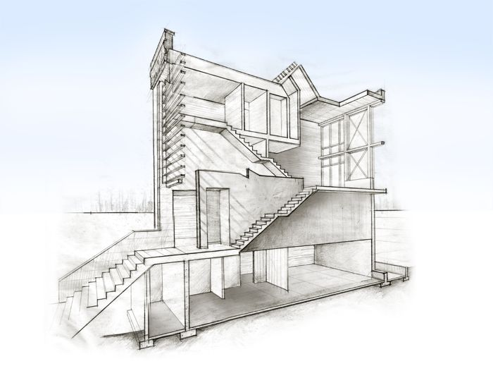 Architectural Drawing Building