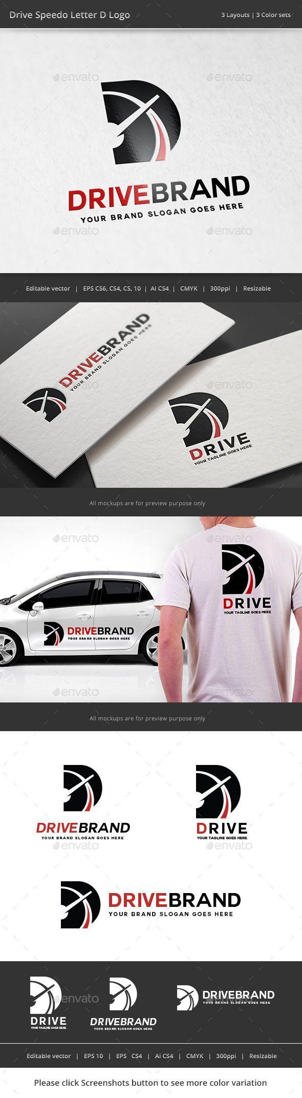 Drive Letter D Logo — Vector EPS #velocilty #brand • Available here → https://graphicriver.net/item/drive-letter-d-logo/11322178?ref=pxcr