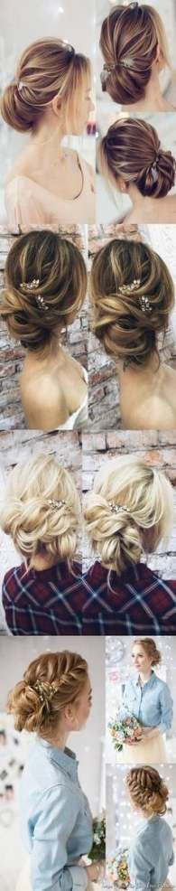 18+ Trendy Wedding Hairstyles For Long Hair Straight Prom,  #diyhairstylesstraight #Hair #hai...