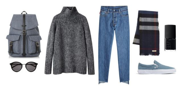 """""""Casual & Cozy"""" by danitramarie on Polyvore featuring Vanessa Bruno Athé, Vetements, NARS Cosmetics, Madewell, Burberry, Dune, Yves Saint Laurent, CasualChic, springfashion and capsule"""