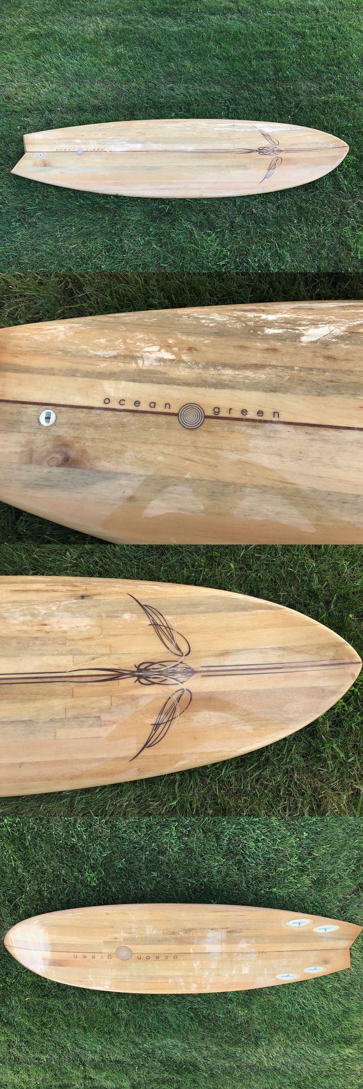 Surfboards 22710: Ocean Green Balsa Wood Surfboard Brand New -> BUY IT NOW ONLY: $499 on eBay!