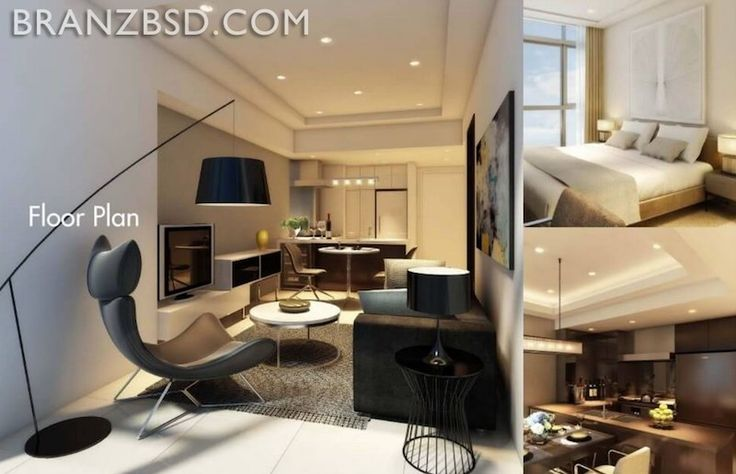 Contoh interior design Branz BSD apartment.