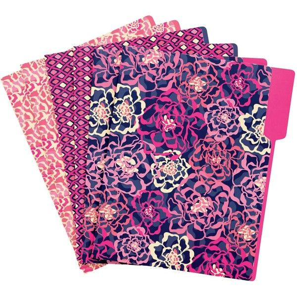 Vera Bradley File Folders in Katalina Pink ($14) ❤ liked on Polyvore featuring home, home decor, office accessories, school supplies, accessories, katalina pink, paper and gifts, file folders, pink file folders and pink office accessories